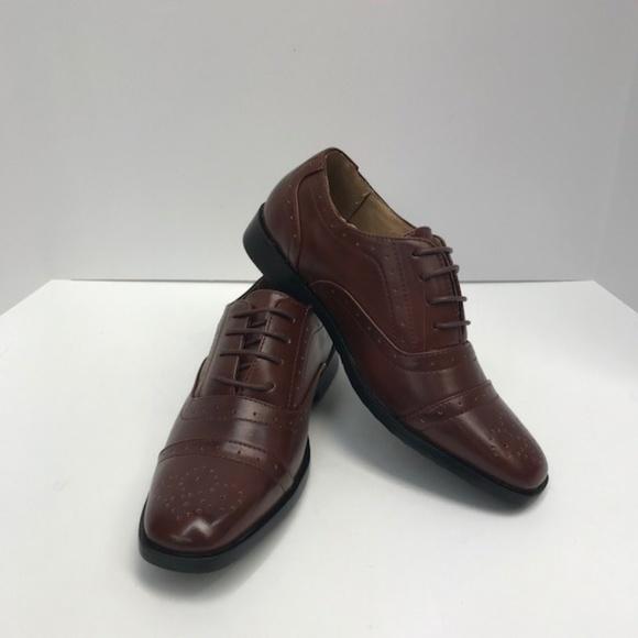 c5a84fbba16 Easy Strider Dark Tan Dress Shoes Boys Sizes 4-8